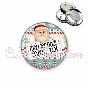 Badge 56mm Mon 1er Noël avec toi (003MUL06)