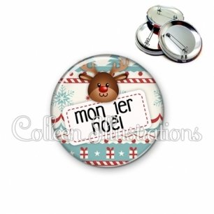 Badge 56mm Mon 1er Noël (003MUL07)