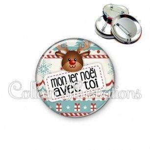 Badge 56mm Mon 1er Noël avec toi (003MUL07)