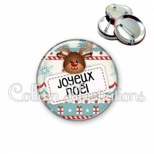 Badge 56mm Joyeux Noël (003MUL07)