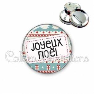 Badge 56mm Joyeux Noël (003MUL08)