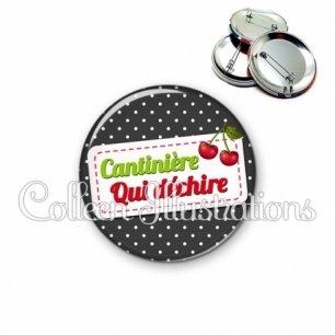 Badge 56mm Cantinière qui déchire (003NOI04)