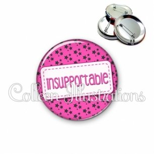 Badge 56mm Insupportable (003ROS01)