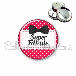 Badge 56mm Super filleule (003ROS02)