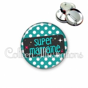 Badge 56mm Super marraine (003VER02)