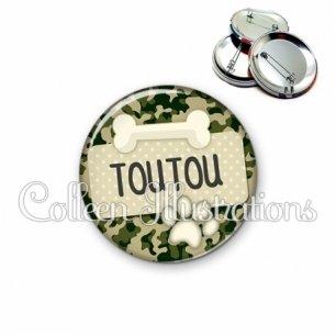 Badge 56mm Chien Toutou (003VER03)