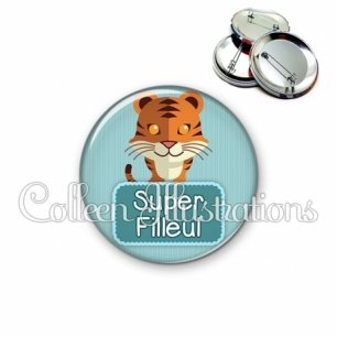 Badge 56mm Super filleul (003VER04)