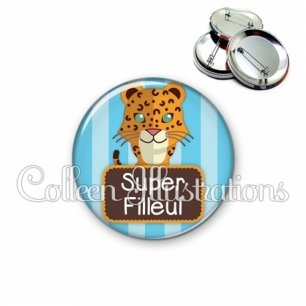 Badge 56mm Super filleul (003VER06)