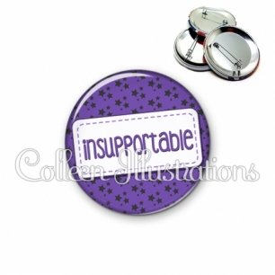 Badge 56mm Insupportable (003VIO01)