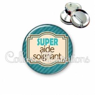 Badge 56mm Super aide-soignant (004BLE01)