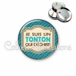 Badge 56mm Tonton qui déchire (004BLE01)