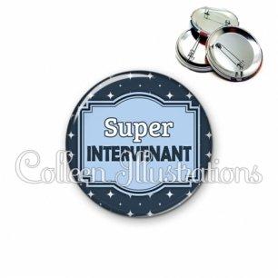 Badge 56mm Super intervenant (004BLE02)