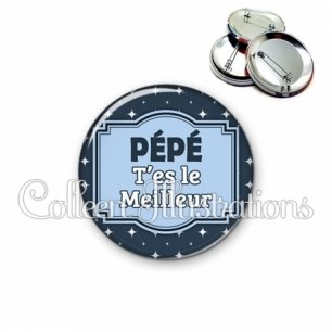 Badge 56mm Le meilleur pépé (004BLE02)