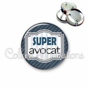 Badge 56mm Super avocat (004GRI01)