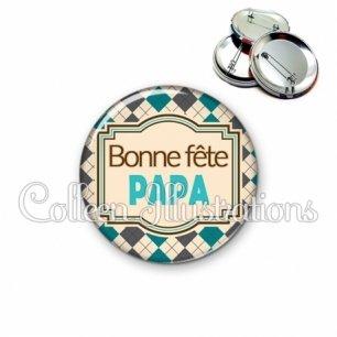 Badge 56mm Bonne fête papa (004MUL01)