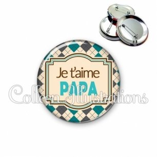 Badge 56mm Papa je t'aime (004MUL01)