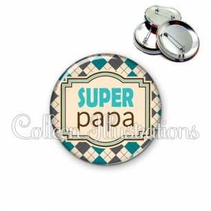 Badge 56mm Super papa (004MUL01)