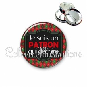 Badge 56mm Patron qui déchire (004MUL02)