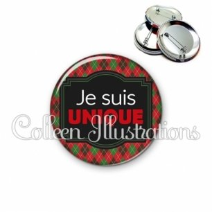 Badge 56mm Je suis unique (004MUL02)