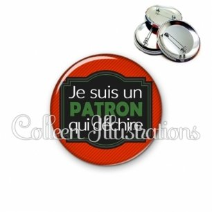 Badge 56mm Patron qui déchire (004ROU02)