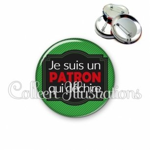 Badge 56mm Patron qui déchire (004VER03)