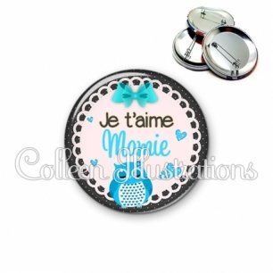 Badge 56mm Mamie je t'aime (005BLE01)