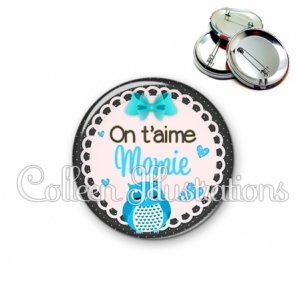 Badge 56mm Mamie on t'aime (005BLE01)