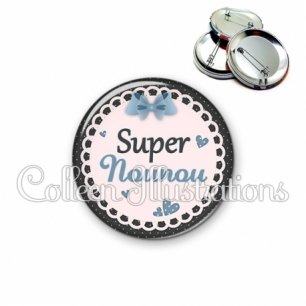 Badge 56mm Super nounou (005BLE05)