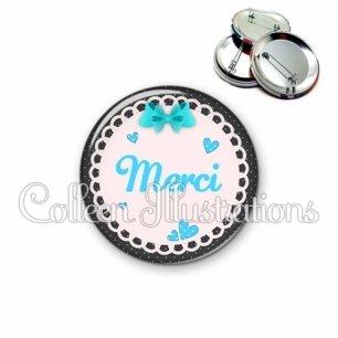 Badge 56mm Remerciements merci (005BLE06)