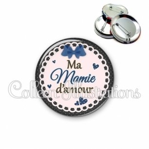 Badge 56mm Mamie d'amour (005BLE07)