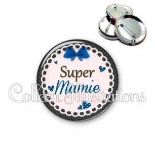 Badge 56mm Super mamie (005BLE07)