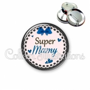 Badge 56mm Super mamy (005BLE07)