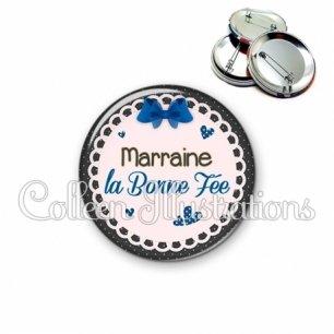 Badge 56mm Marraine ma bonne fée (005BLE07)