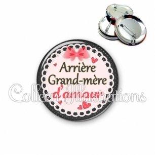 Badge 56mm Arrière grand-mère d'amour (005ROS01)