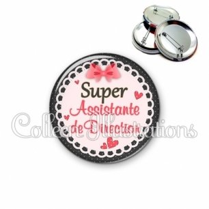 Badge 56mm Super assistante de direction (005ROS01)
