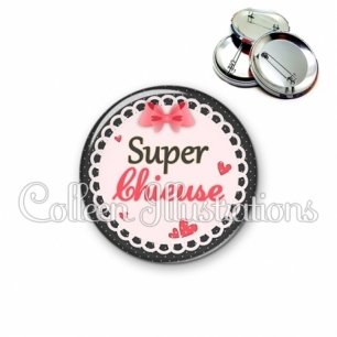 Badge 56mm Super chieuse (005ROS01)