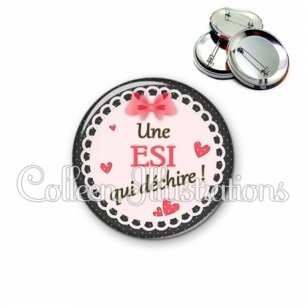 Badge 56mm ESI qui déchire (005ROS01)