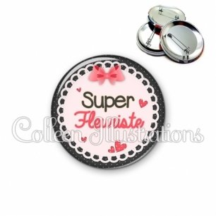 Badge 56mm Super fleuriste (005ROS01)
