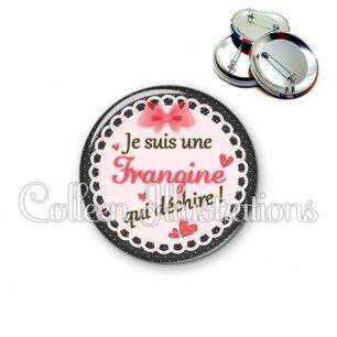 Badge 56mm Frangine qui déchire (005ROS01)