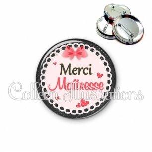 Badge 56mm Merci maîtresse (005ROS01)