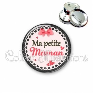 Badge 56mm Ma petite maman (005ROS01)