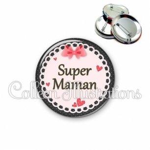 Badge 56mm Super maman (005ROS01)
