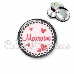 Badge 56mm Marraine (005ROS01)