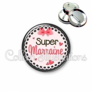 Badge 56mm Super marraine (005ROS01)