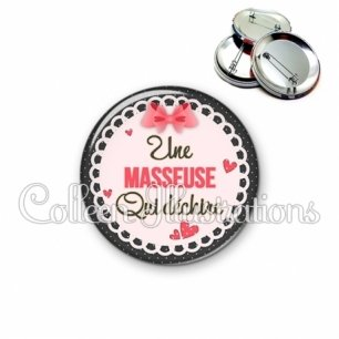 Badge 56mm Super masseur (005ROS01)
