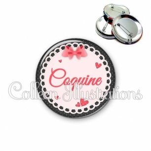 Badge 56mm Coquine (005ROS01)