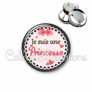 Badge 56mm Princesse (005ROS01)