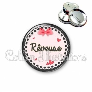 Badge 56mm Rêveuse (005ROS01)