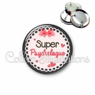 Badge 56mm Super psychologue (005ROS01)
