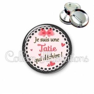 Badge 56mm Tatie qui déchire (005ROS01)